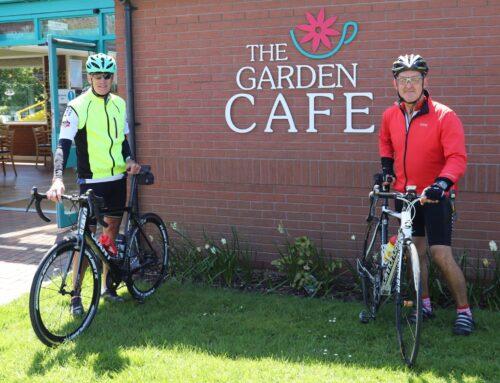 Get on your bike for a visit to Derwen's Walled Garden Cafe