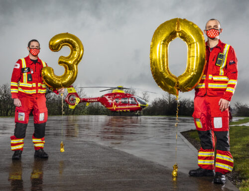Go Red As Midlands Air Ambulance Charity Celebrates 30th Year in Shropshire