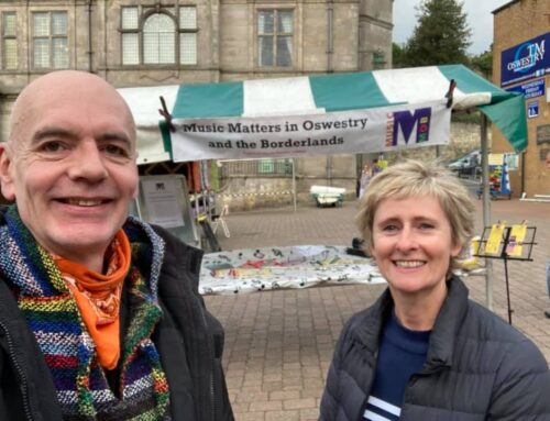 Oswestry's Charity Market returns and MusicMOB invites you to visit!