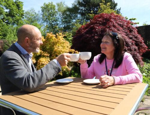 Visitors flock to Derwen College's new-look Walled Garden Cafe