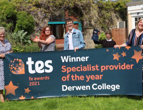 Derwen College wins at Tes FE Awards 2021