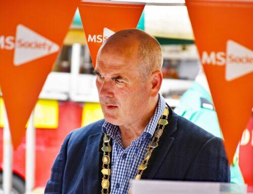 Oswestry's mayor praises charity market presence