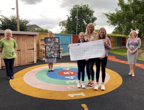 Grateful family present cheque for £12,000 to RJAH children's ward