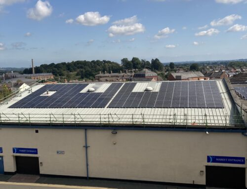 Oswestry Town Council's first step to carbon neutral status with solar panels